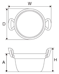 段付鍋寸法図