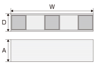 アルストレイン デスクオーガナイザー 寸法図