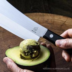 ワンズナイフでアボカドの種を取る