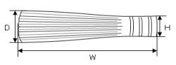竹つづり ササラ サイズ 寸法