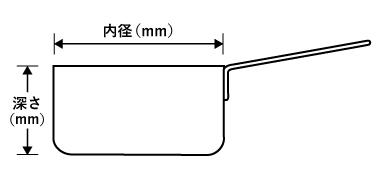 プロマイスター片手鍋寸法図